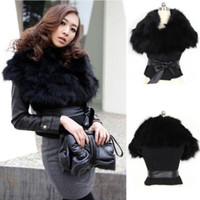 Women Leather_Like Waist_Length New Sexy Office Lady Faux Fur Sleeveless Black Vest Jacket Coat Outwear w Belt