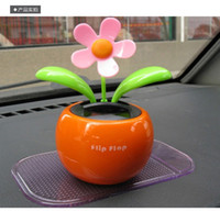 solar dancing flower - Car Interior Decorations Powered Flap Flip beauty Apple Flower Flowerpot Swing Solar Dancing Toy Ornaments