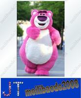 bear toy story - Pink Bear Lotso Toy Story Mascot Costume Fancy Dress Adult Size Cartoon Mascot Costume HSA0415