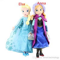 Wholesale Frozen plush Toy New cm Princess Elsa Plush Anna Plush Toys Doll Brinquedos Kids