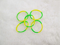 Wholesale Hair rubber Loom high quality rubber crazy and fun kids DIY bracelet silicone loom bands double color looms