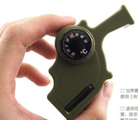 Wholesale High Decibel Hurricane Survival Whistle With Compass Thermometer Multifunction Whistle