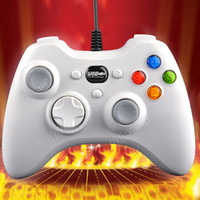 Wholesale Wired USB Controller Gamepad Joystick Joypad for PC Computer Laptop Game White