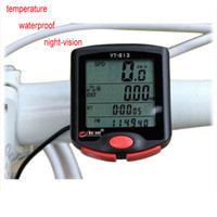 Cheap YT-813 LCD mountain Bike Bicycle Computer Odometer Speedometer temperature waterproof night-vision dropship