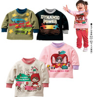 Wholesale Brand New Children s T shirt Car Sweatshirt Little Red Riding Hood Blouse Cotton Top Quality LT22