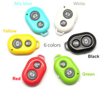 Wholesale New Package Bluetooth Remote Shutter Wireless Camera Control Self Timer for iOS Android iPhone S S Samsung Galaxy S5 Note2 sets
