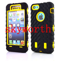 hard cover - Tire Robot Hybrid Heavy Duty Rugged Shockproof Hard plastic Soft Silicone Case Skin Cover for iphone S S C iphone Plus