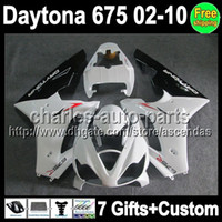 7gifts For TRIUMPH White black Daytona675 Daytona 675 02- 10 ...