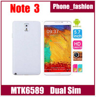 Wholesale note N9000 Dual card dual standby android MTK6589 Quad core inch IPS screen promotions free window case eye controls