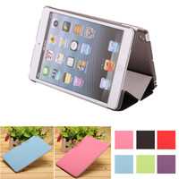 Wholesale Ship from USA New Colours PU Leather Folding Smart Case Folding Folio Cover For iPad Mini2 ipad mini