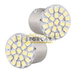 10Pcs Lot 1156 BA15S P21W 1073 White 22 1206 SMD LED Tail Stop Light Bulb 12V Free Shipping