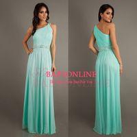 Wholesale 2014 Elegant Mint Green Burgundy White Long Beaded Formal Women Summer Party Dress Prom Evening Dress BO6384