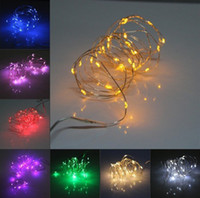 Wholesale 2M LED battery Mini LED Copper Wire string light AA Battery Operated Fairy Party Wedding Christmas Flashing LED strip