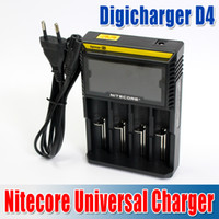 Wholesale 2014 Newest Nitecore D4 Digicharger LCD Display Battery Charger Universal Nitecore Charger Retail Package with Charging Cable waitingyou