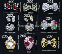 Cheap free shipping --10pcs Lot 3D Mix design Acrylic Rhinestone Nail Art Decoration,weddingt nail decoration ,(XY-N013)