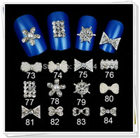 Cheap free shipping --10pcs Lot MIX design 3D Acrylic Rhinestone Nail Art Decoration,art nail decoration Pearl jewelry,(XY-N010)