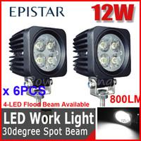 "Spot Beam 30 Degree 780lm 6PCS 2.5"" 12W Epistar LED Driving Work Light Off-Road SUV ATV 4WD 4x4 Spot Flood Beam 9-32V 950lm JEEP Truck Motorcycle Wagon Fog Headlamp"