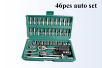Wholesale 46pcs set sets steel auto sleeve combination tool wrench set of hardware car repair tools