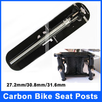 Wholesale New Full Carbon Fiber Bike Seat Posts MTB Road Bicycle K Carbon Aluminum SeatPosts Straight Seat Tube MM