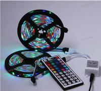 Wholesale 2 M M SMD LEDs m Flexible Light Strip Lamp RGB Key IR Remote