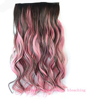 Wholesale Dark brown powder bleaching gradients and hair Colored wigs and hair pieces Five CARDS and hair curly hair