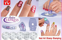 Cheap 3sets lot ,Hotsale Professional Nail Art Stamp Plates Polish DIY Stamping Design Kit 600126