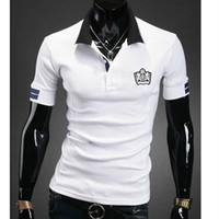 Cheap free shipping brand Shirt For Men's 2014 Summer Fashion POLO Men,Casual Shirt Men's Sport POLO shirt,Short Men Tops 3Colors XXL