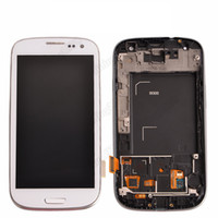 Wholesale 1 pc For Samsung Galaxy Siii S3 i9300 i747 T999 i535 R530 L710 Touch LCD Screen Digitizer replacements with frame