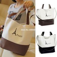 Wholesale Best Selling Womens Ladys Retro classic PARIS Eiffel Tower Print Canvas Handbag Shoulder bag SV000508 B003