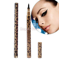 Cheap Big Discount!!!Leopard Waterproof Liquid Eyeliner Pen Black Eye Liner Pencil Makeup Cosmetic 6025 b012
