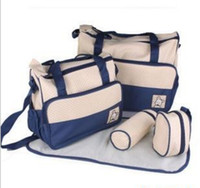 Wholesale 7 Colors Kit New Fashion High Quality Tote Baby Products Shoulder Durable Diaper Bags Nappy Mummy Bags