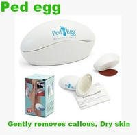 Wholesale Ped egg Exfoliating tool Pedicure Feet File Dry Hard Dead Skin Cell Callus Remover Exfoliator