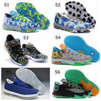 other Flat Men Top Quality Kevin Durant Basketball Shoes KD VI 6 Elite New 56 Colours Mens Sports Sneakers Tick Swoosh Logo on Mesh Upper size 40-46