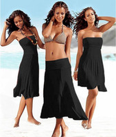 Wholesale Hot Women Pure Cotton Bikini swimwear Dressy Women s Chest wrap Dresses High Quality Ladies Beach Dress Clothing colors M0778