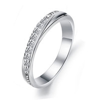 bezel material - 2014 New Arrival Elegant Wedding Jewelry Rings S925 Sterling Silver Material on Layer Platinum Plated OR14