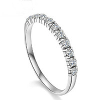 Wholesale S925 Sterling Silver Jewelry Rings Layer Platinum Plated with AAA Grade Austria Crystal New Arrival OR15