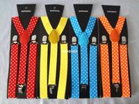 Wholesale Mixed Colors Fashion Dots Printed Suspenders Women CM CM Elastic Belt Straps