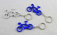 Wholesale Fashionable Bicycle Metal Bottle Opener Can opener with Keyring Keychain Promotional Gift