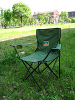 Cheap Free shipping Free Shipping Outdoor Folding Chairs Large Hand Strap Net Fishing Chair Portable Beach Lounge Chair - Green