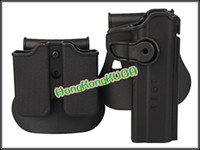 Wholesale OP Airsoft IMI style Roto Holster for with Single stack pouch black