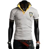 Cheap Top selling men polo shirts short sleeve casual shirts 4 colors M L XL XXL FREE SHIPPING B751