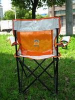 Cheap Free shipping Free Shipping Outdoor Folding Chairs Large Hand Strap Net Fishing Chair Portable Beach Lounge Chair - Orange