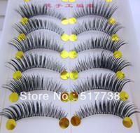 Wholesale Pair Thick False Eyelashes Mink Eyelash Lashes Voluminous Makeup Tail Winged