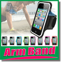 Wholesale Arm band Arm Case Sport running Case Workout Armband Holder Pounch For iphone S G C S Cell Mobile Phone Arm Bag Band GYM Fashion