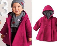 Wholesale High quality fashion baby coat Autumn and winter cotton lining jacquard coat