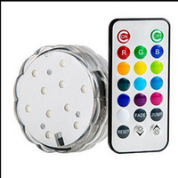 Wholesale remote controlled submersible led light for decorations battery operated remote controlled submersible led light