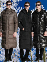 Cheap 2014 New Fashion Winter Men X Long Down Jacket Thicker Coat Hood Warm Ankle Length Down Parkas Brand Outdoor Overcoat Hot