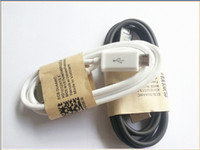 Wholesale High quality Black white Micro USB Data cable Charger cables Wire For samsung galaxy S3 i9300 S4 i9500 note N7100 M FT HTC blackberry V8