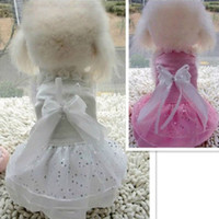 Wholesale Cute Girl Princess Formal Gown Pet Dog Clothes Suit Set Wedding Dress Clothes