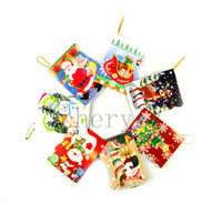 Wholesale Christmas Greeting Cards Xmas Card Creative Cute Christmas Wish Card Christmas Tree Ornaments Best Gifts C1348